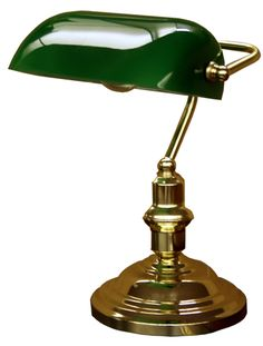 Traditional Bankers Desk Lamp : I so want to get one of those! I used to have at my parents' house as a kid and I loved it!