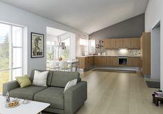 I Mocca bor du på én flate og kan boltre deg på 135 kvadratmeter.
