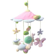Princess Animals Pink Baby Newborn Infant Crib Mobile Toys Hands Training Mobile Music Rattles Stroller Bed Hanging Decoration #Affiliate