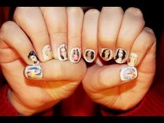 How to Put Pictures on Your Nails, she talks at the start for EVER but really good tutorial.