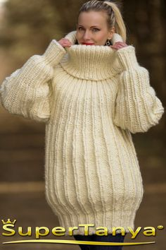 Made to order hand knitted mohair wool sweater in by supertanya