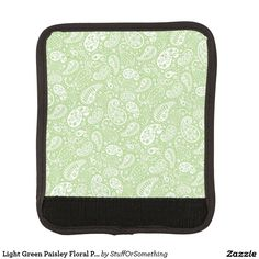 Light Green Paisley Floral Pattern Handle Wrap