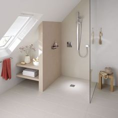 Under stair shower h for the home garden for Salle de bain sous comble