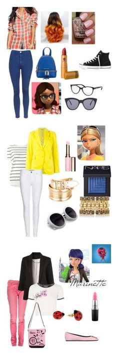 """Miraculous Outfits"" by cupcakecutie23 on Polyvore featuring Ralph Lauren, Topshop, MICHAEL Michael Kors, Lipstick Queen, Converse, Bulgari, Le Specs, Marni, Etro and Burberry"