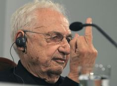 """Frank Gehry at a press conference in Oviedo, Spain. """"In this world we are living in, ninety-eight per cent of everything that is built and designed today is pure shit,"""" Gehry said: http://nyr.kr/1yFRbvf (Photograph by J. L. Cereijido / EPA)"""