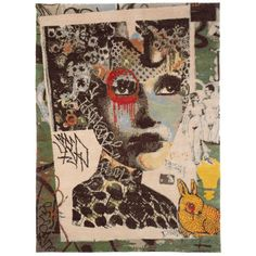 Street Art Small Area Rug by Dain 'Franklyn'    From a unique collection of antique and modern more carpets at https://www.1stdibs.com/furniture/rugs-carpets/area-rugs-carpets/