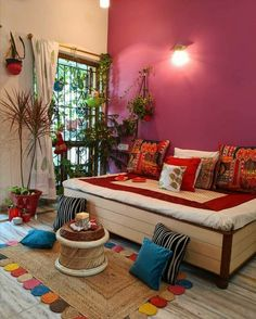 Bohemian Furniture Trends for 2020 House Interior Decor, Decor, Home Decor Furniture, Home Room Design, Indian Bedroom Decor, Indian Home Decor, Furniture Trends, Colourful Living Room Decor, India Home Decor
