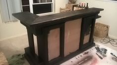 First coat of Ebony stain applied.