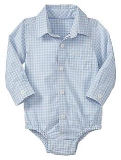 Blue checkered bodysuit | Gap