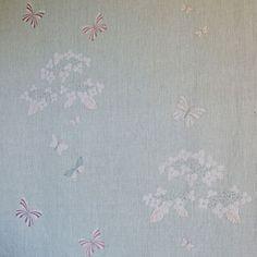 Curtains - Duck Egg Hydrangea - Duck Egg Reverse Shalini 220cm(w)x258cm(d)