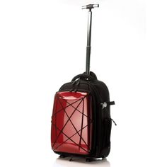 transforms to a backpack  //  Hybrid Gear 2-Way Carry-On Red  by Hideo Wakamatsu