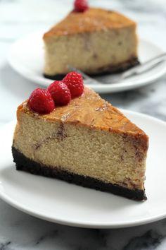 Raspberry Swirl Cheesecake Pie | Recipe | Raspberry Swirl Cheesecake ...