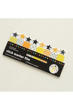 Cute sticky notes made of PVC. This sticky note set will be great for decorative use and craft projects. A must have for Scrapbooking, Collage, Card