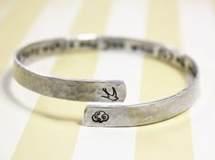 I will write peace on your wings bracelet secret by ZennedOut, $26.50