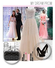 """""""Prom story"""" by emina-luppo ❤ liked on Polyvore featuring Pour La Victoire, Alexander McQueen, Kate Spade, Lord & Berry, Revlon, contestentry and promstory"""