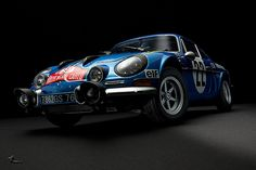Renault Alpine A110 1600S #22 Rally Monte Carlo 1971 by Zuugnap, via Flickr