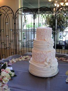 Lace Wedding Cake | by Elegant Cake Creations AZ