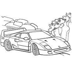 Printable Race Car Coloring Pages Boy Winner Track Racing Coloring