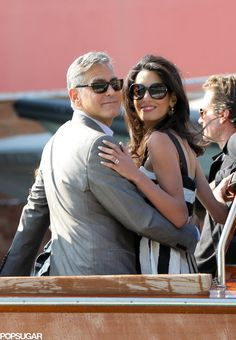 George Clooney and Amal Alamuddin Kick Off Their Wedding Weekend in Italy