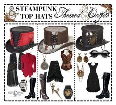 """Steampunk Outfits"" by ageny on Polyvore featuring Overland Sheepskin Co., One Off, CO, Bling Jewelry and MadeByAly"