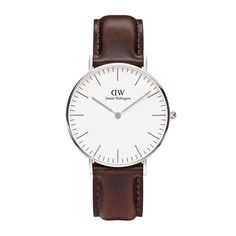 ed4763df527 Gents Daniel Wellington Classic St Andrews men s stainless steel and brown  leather strap watch. The Daniel Wellington Classic St Andrews is an elegant  ...