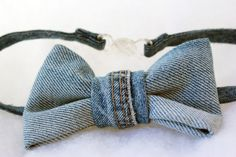 Upcycled Denim Bow-tie by Scrapcycling