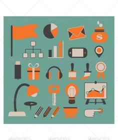 Set of Vector Office Icons