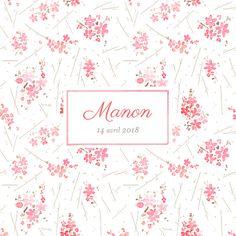 Faire part naissance Fleurs des champs by Petite Alma pour www.fairepartnaissance.fr #rosemood