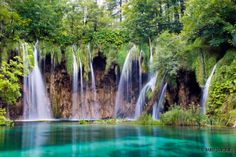 Amazing waterfalls at plitvice lakes
