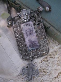 vintage assemblage necklace - OhMyGypsySoul on Etsy
