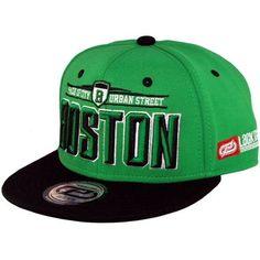 Boné Lackpard Boston Snapback Verde Preto - Loja Boné Mania 7f544493210