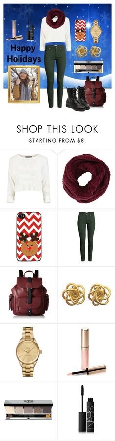 """It's that time of year..."" by chrisantal ❤ liked on Polyvore featuring BCBGMAXAZRIA, H&M, Kenneth Cole Reaction, Lacoste, By Terry, Bobbi Brown Cosmetics, NARS Cosmetics, women's clothing, women's fashion and women"