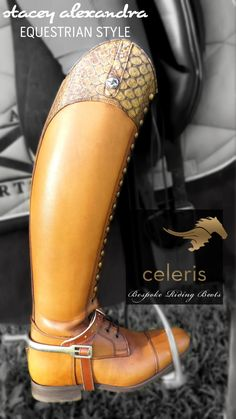 Completely in love with these 'Bia' dressage top boots from Celeris. Make a statement with these riding boots! www.staceyalexandra.com
