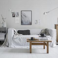 Vissa jobb är ren inspiration! Som det här samarbetet med Bemz där uppdraget var att välja en valfri Ikea soffa som kunde köpas in på Blocket och kombinera med en favoritklädsel ur Bemz sortiment. Här