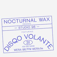 Studio 96 is a weekly mix show presented by Nocturnal Wax showcasing the best underground dance & electronic music. I'm designing all the covers for the show. Layout Inspiration, Logo Design Inspiration, Typography Layout, Lettering, Print Layout, Art Graphique, Studio Logo, Design Reference, Editorial Design