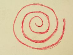 Waldorf ~ 1st grade ~ Form Drawing ~ Spiral ~ main lesson book