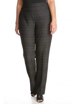 Kim Rogers  Plus Size Herringboner Tech Knit Pants
