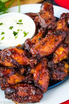 Crispy And Tasty Chicken Wings Party Ideas Healthy Recipes When it comes to weekend meals, there's one savory weekend snack that will always reign supreme: the almighty chicken wing. Wings are messy but fun to eat Honey Bbq Chicken Wings, Chicken Kabobs, Barbecue Chicken, Best Chicken Wing Recipe, Chicken Wing Recipes, Honey Recipes, Sauce Recipes, Cooking Recipes, Healthy Recipes