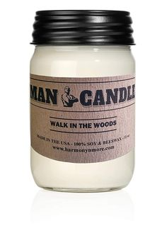 Recyclable Mason Jar Best Soy Beeswax Candle Premium Quality 11 Oz Large Candle Novel Gift Harmony Bath and Body Products Best Man Candle Celtic Moon Scent Scented Candles