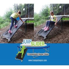 Jump Slider, Trampoline Ladder Ramp Slide Trampoline Steps, Trampoline Ladder, Backyard Trampoline, Trampoline Games, Water Trampoline, Trampolines, Outdoor Toys, Outdoor Play, Cubby House Kits