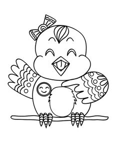 Happy Canary Bird Coloring Pages : Best Place to Color Bird Coloring Pages, Coloring Pages For Kids, Canary Birds, Online Coloring, Cute Birds, To Color, More Pictures, Free Printables, Happy