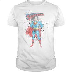 Superman Vintage Ink Splatter  T Shirt, Hoodie, Sweatshirts - design t shirts #fashion #clothing