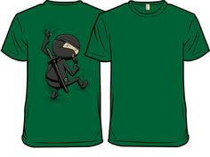 Shirt with a ninja on the back? And it's green! Why yes please.