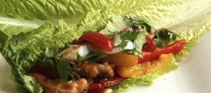 Lettuce Wrapped Chicken Tacos...low carb option...healthy tacos - it is possible!! just in time for SuperBowl!