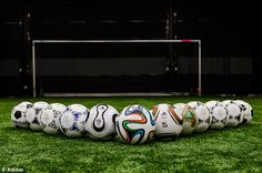 Brazuca and the previous World Cup balls