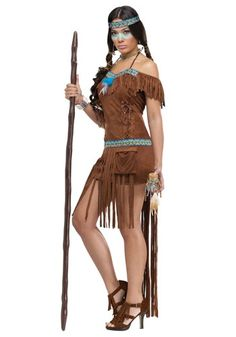 Cool Native American Costumes - Womenu0027s Native American Healer Costume just added.  sc 1 st  Pinterest & American Indian Girl Costume | Disfraces | Pinterest | Indian girl ...