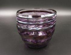 Metallic Glass Bowl, Purple and Silver Bowl, Fruit Bowl, Candy Bowl, Silver Spiral Bowl, Glass Dessert Dish
