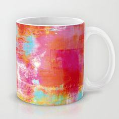 OFF THE GRID 2 Colorful Pink Pastel Neon Abstract Watercolor Acrylic Textural Art Painting Rainbow Mug by EbiEmporium - $15.00 #hotpink #girly #fineart #watercolor #mixedmedia #painting #abstract #whimsical #kitchen #mug #coffeecup #coffeemug #cup #drinkware #artmug #giftforher #giftunder20 #dorm #modern #boldcolors #EbiEmporium #Society6 #chic #feminine