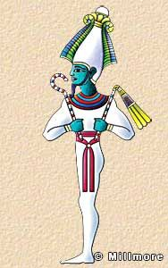Osiris was originally a vegetation god linked with the growth of crops. He was the mythological first king of Egypt and one of the most important of the gods. It was thought that he brought civilization to the race of mankind. He was murdered by his brother Seth, brought back to life by his wife Isis, and went on to become the ruler of the underworld and judge of the dead.