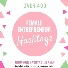 Don't want to purchase the whole hashtag library? Cool, no problem, this allows you to just grab the ones you need for a fraction of the cost. Remember these hashtags plus much more are all available inside the members area of The InstantBoss Club if you Business Planning, Business Tips, Online Business, Business Leaders, Business Women, Social Media Tips, Social Media Marketing, Affiliate Marketing, Marketing Quotes